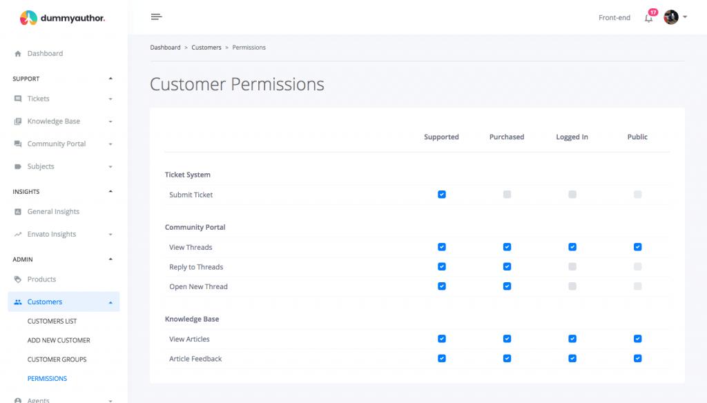 crm customer permissions